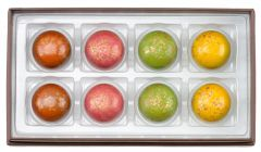8 Piece Pie Collection with Pecan, Spiced Cranberry, Apple, and Pumpkin Pie chocolates